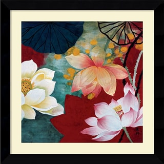 Hong Mi Lim 'Lotus Dream I' Framed Art Print