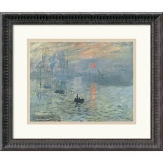 Claude Monet 'Impressions at Sunrise, 1873' Framed Art Print