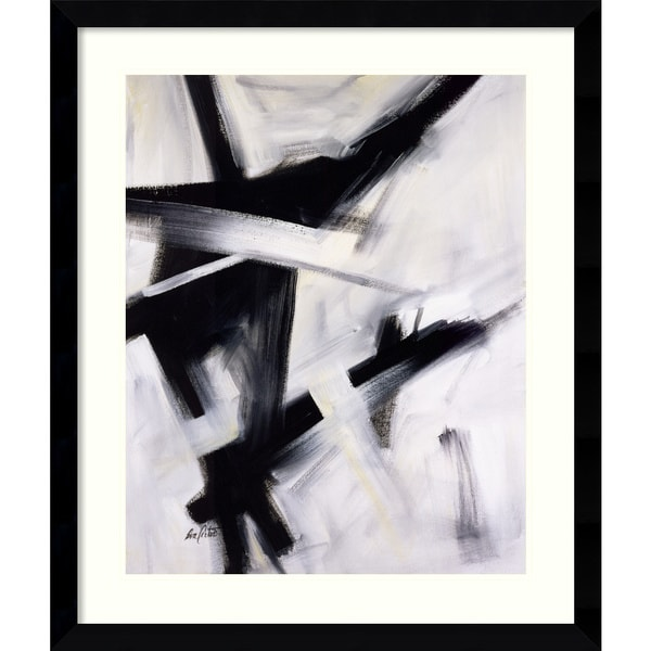 Eva Carter 'Black and White' Framed Art Print