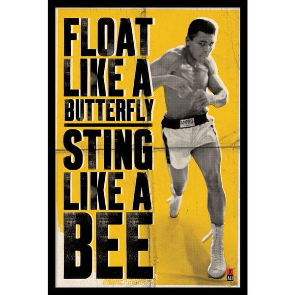 'Ali - Float Like a Butterfly' Framed Art Print