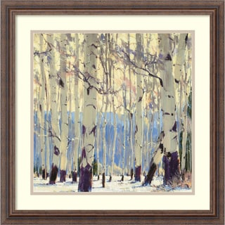 William Hook 'December Aspen' Framed Art Print