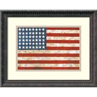 Jasper Johns 'Flag, 1954-55' Framed Art Print