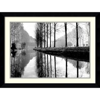 Bill Philip 'Canal, Normandy' Framed Art Print