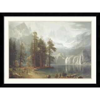 Albert Bierstadt 'Sierra Nevada' Framed Art Print