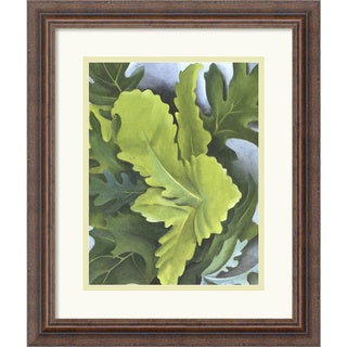 Georgia O'Keeffe 'Green Oak Leaves' Framed Art Print