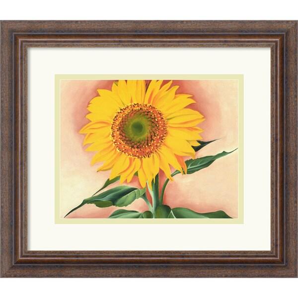 Georgia O'Keeffe 'A Sunflower from Maggie, 1937' Framed Art Print