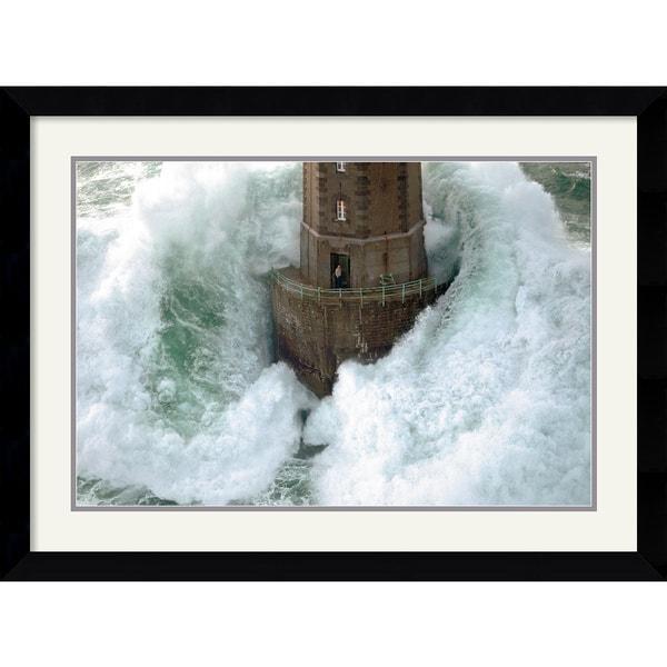 Framed Art Print 'Phares dans la Tempete, La Jument' by Jean Guichard 36 x 27-inch 7665907