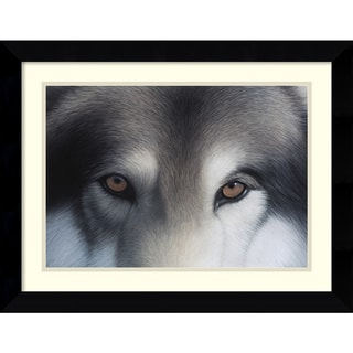 Charles Alexander 'Eyes of the Hunter: Gray Wolf ' Framed Art Print