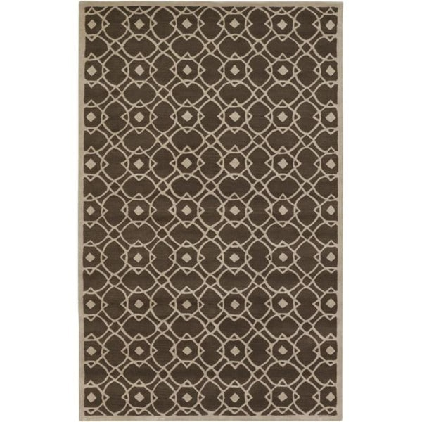 Hand-tufted Glamorous Brown Wool Rug (8' x 11')