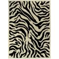 Hand-tufted Black/White Zebra Animal Print Glamorous Wool Rug (8' x 11')