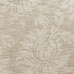 Hand-crafted Solid Ivory Damask Embossed Wool Rug (2'6 x 8')