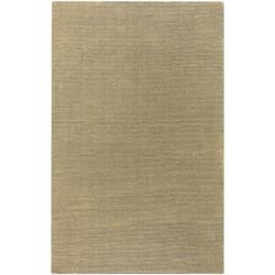 Hand-crafted Solid Pale Gold Casual Ridges Wool Rug (9' x 13')