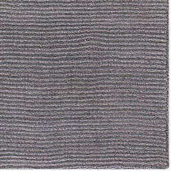 Hand-crafted Solid Grey Casual Ridges Wool Rug (6' x 9')