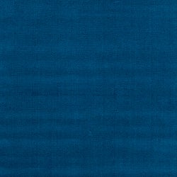 Hand-crafted Solid Blue Causal Ridges Wool Rug (9' x 13')