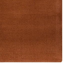 Hand-crafted Brown Solid Casual 'Ridges' Wool Rug (6' x 9')