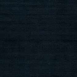 Hand-crafted Navy Blue Solid Causal 'Ridges' Wool Rug (9' x 13')