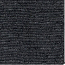 Hand-crafted Solid Black Casual 'Ridges' Wool Rug (6' x 9')