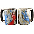 Set of 2 Mara Stoneware 16-oz Hands Mugs (Mexico)