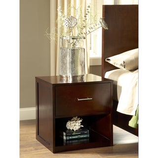 1-drawer Nightstand with Plinth Base