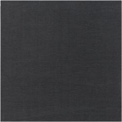 Hand-crafted Solid Black Casual Ridges Wool Rug (8' Square)
