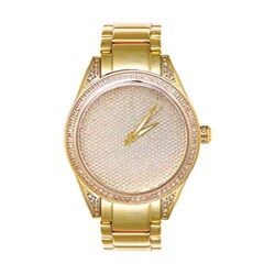 Joe Rodeo Women's Gold-plated Stainless Steel Diamond Watch