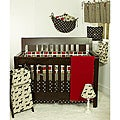 Cotton Tale Houndstooth Machine-Washable 4-piece Crib Bedding Set