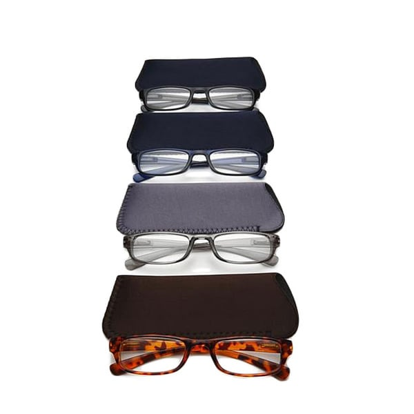Men's Fashion Reading Glasses (Pack of 4)