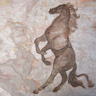 Hand-carved Stone Tile Equestrian Art for the Horse Lover Wallhanging