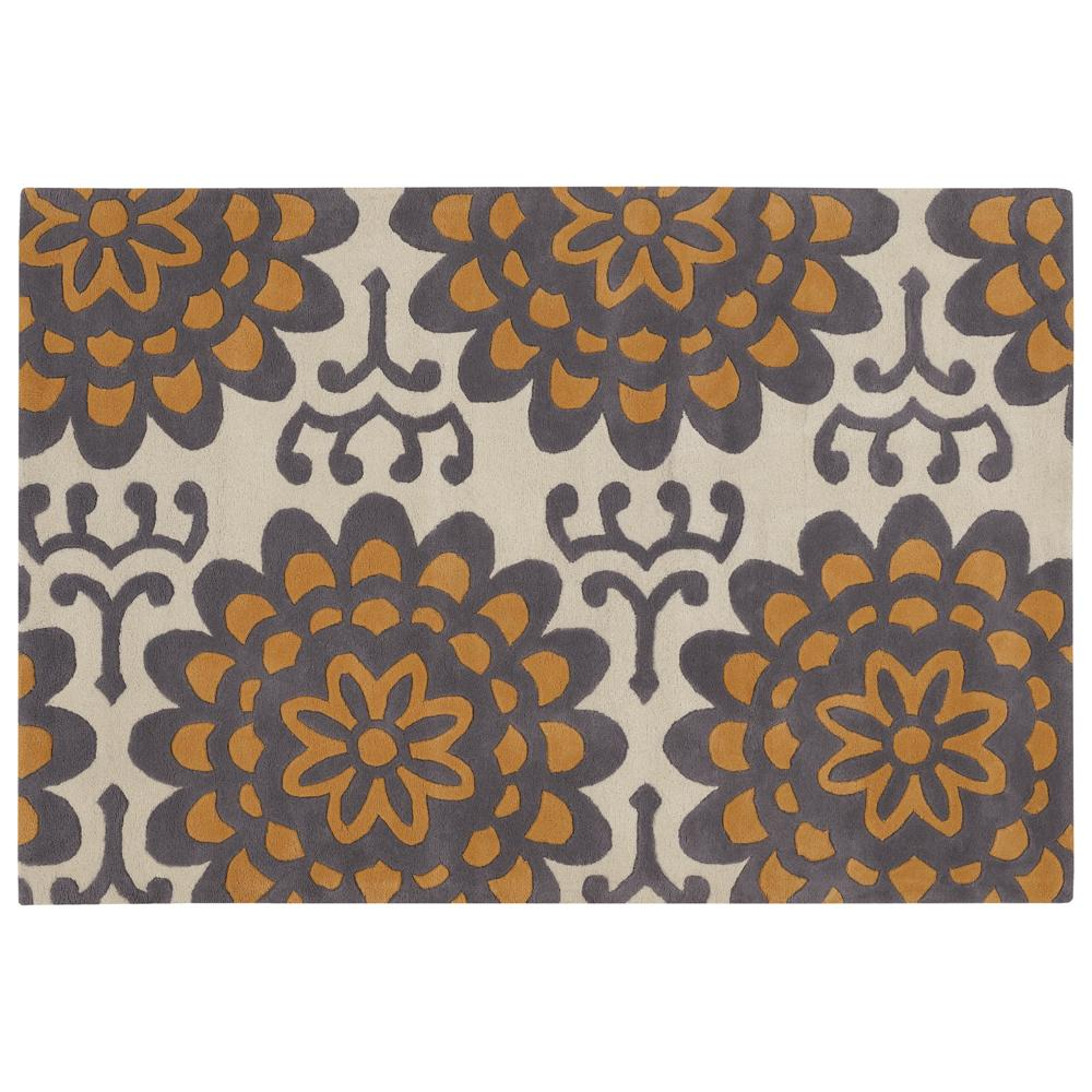 Amy Butler Ivory Floral Hand-tufted New Zealand Wool Rug (7'9 x 10'6)
