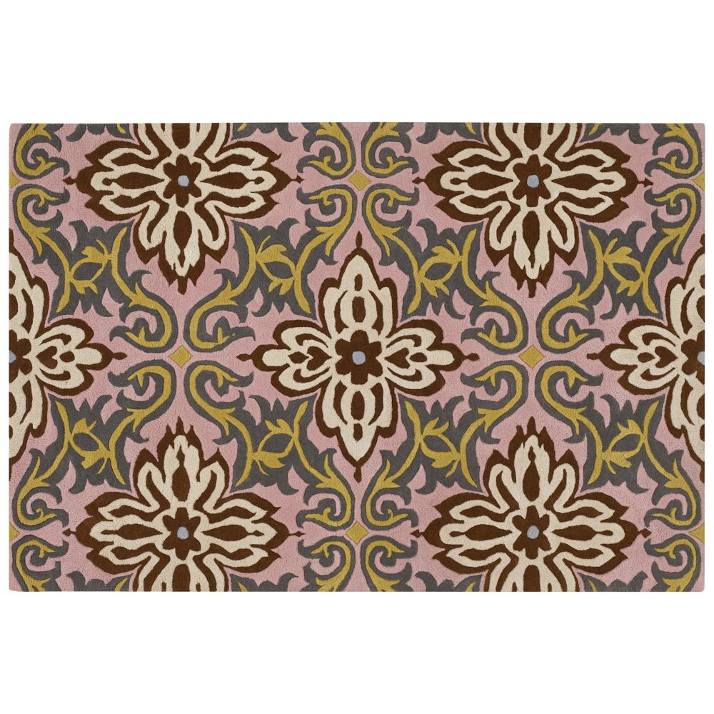 Amy Butler Pink Floral Hand-tufted New Zealand Wool Rug (5