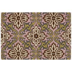 Amy Butler Pink Floral Hand-tufted New Zealand Wool Rug  (7'9 x 10'6)