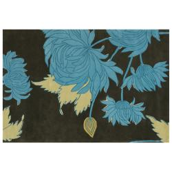 Amy Butler Hand-tufted Green Floral New Zealand Wool Rug (7'9 x 10'6)