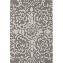 Counterfeit Studio Grey Floral Hand-tufted New Zealand Wool Rug (7'9 x 10'6)