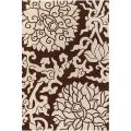 Thomaspaul Brown and Ivory Floral Hand-Tufted New Zealand Wool Rug (3' x 5')