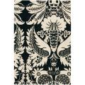 "Thomaspaul Black Floral Hand-Tufted New Zealand Wool Area Rug (5' x 7'6"")"