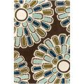 "Thomaspaul Brown Modern-Flower-Motif Floral Hand-Tufted New-Zealand-Wool Rug (5' x 7'6"")"