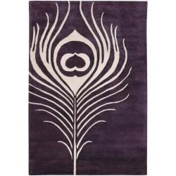 Thomaspaul Purple Feather Hand-tufted New Zealand Wool Rug (3' x 5')