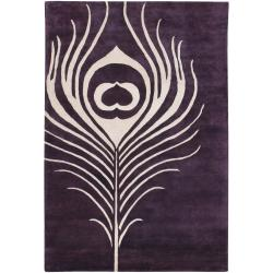 Thomaspaul Purple Feather Hand-tufted New Zealand Wool Rug (5' x 7'6)