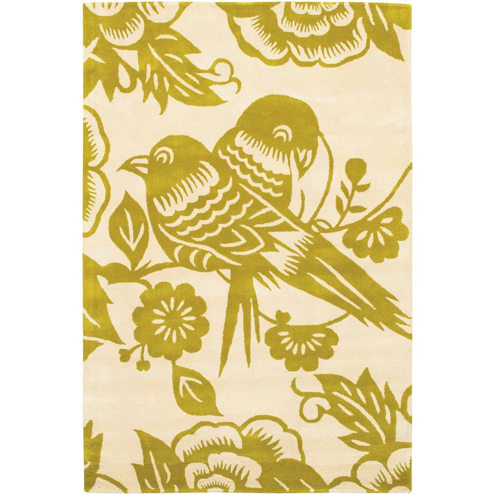 Thomaspaul Love Birds Hand-tufted New Zealand Wool Rug (5' x 7'6)