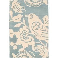 Thomaspaul Ivory Bird Hand-tufted New Zealand Wool Rug (7'9 Round)