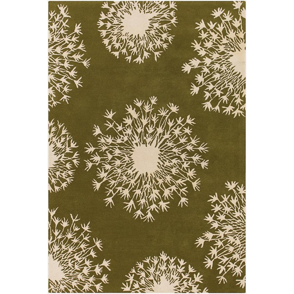 Thomaspaul Ivory Floral Hand-tufted New Zealand Wool Rug (3' x 5')