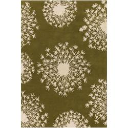 Thomaspaul Ivory Floral Hand-tufted New Zealand Wool Rug (5' x 7'6)