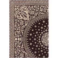 Thomaspaul Ivory Oriental Hand-tufted New Zealand Wool Rug (3' x 5')