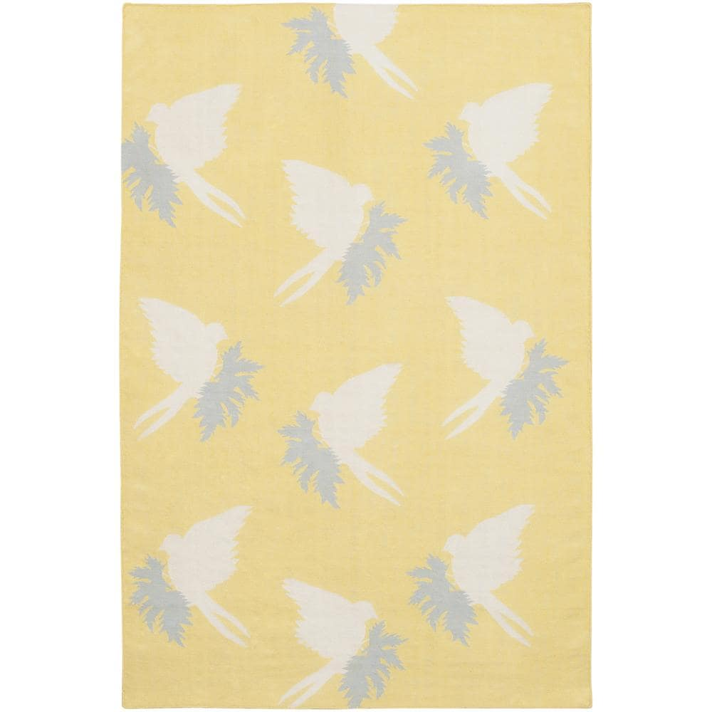 Artist's Loom Handmade Flatweave Transitional Floral Wool Rug (5'x7'6)