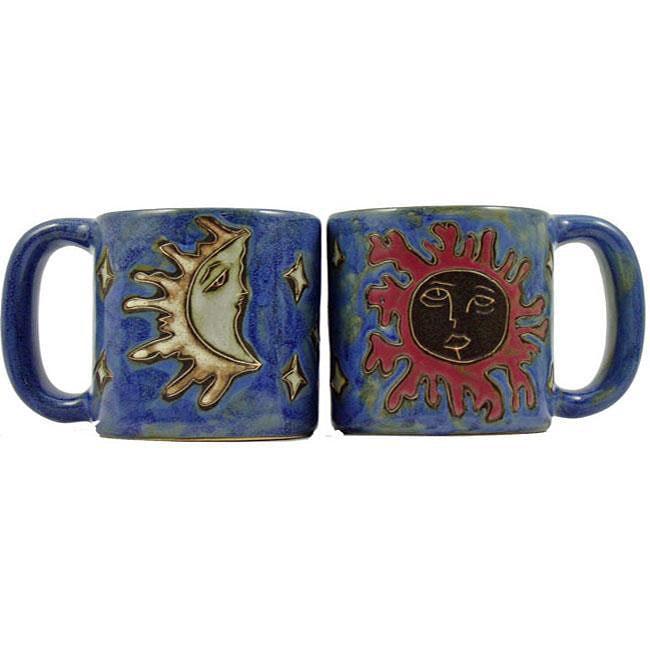Set of 2 Mara Stoneware 16-oz Celestial Mugs (Mexico)