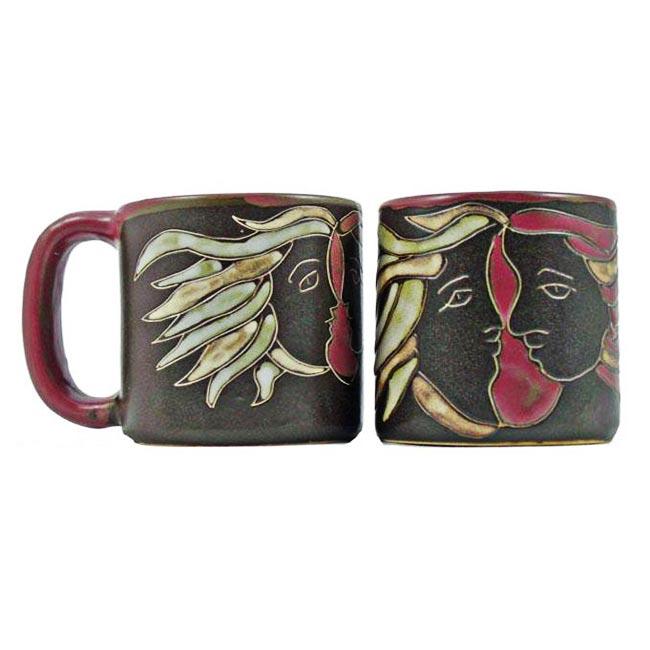 Set of 2 Mara Stoneware 16-oz Lovers Mugs (Mexico)