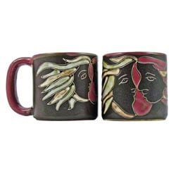 Set of 2 Mara Stoneware 16-oz Lovers Mugs (Mexico)