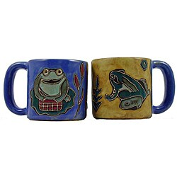 Set of 2 Mara Stoneware 16-oz Frogs Mugs (Mexico)
