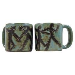 Set of 2 Mara Stoneware 16-oz Dancers Mugs (Mexico)