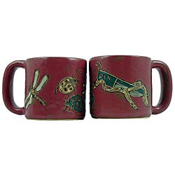 Set of 2 Mara Stoneware 16-oz Insects Mugs (Mexico)